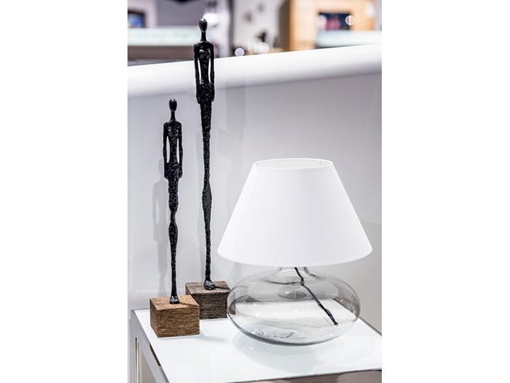 Klasyczna lampka stołowa Stockholm ze szkła Lampa nocna Wysokość 22 cm Wysokość 47 cm Lampa z abażurem Kategoria Lampy stołowe