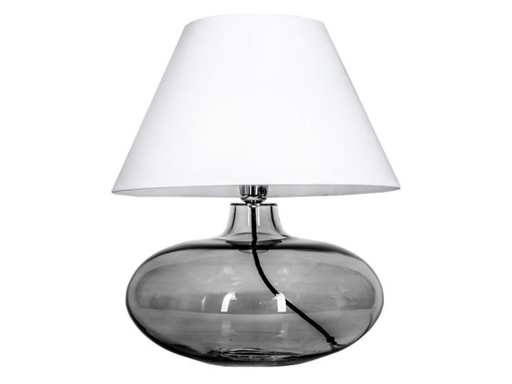 Klasyczna lampka stołowa Stockholm ze szkła Wysokość 47 cm Lampa z abażurem Wysokość 22 cm Lampa nocna Styl Klasyczny