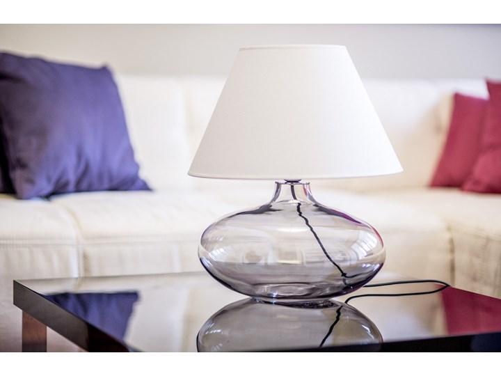 Klasyczna lampka stołowa Stockholm ze szkła Lampa z abażurem Wysokość 22 cm Lampa nocna Wysokość 47 cm Kategoria Lampy stołowe