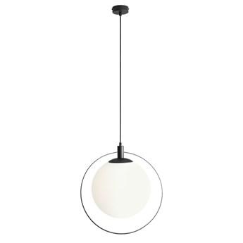 Lampa z dużym kloszem i okręgiem Bersi Czarny