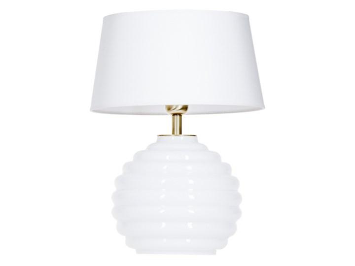 Lampka stołowa Antibes z białego szkła Czarny Wysokość 16 cm Lampa z abażurem Lampa nocna Wysokość 42 cm Styl Nowoczesny