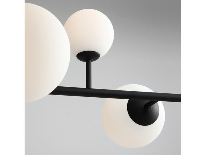 Żyrandol ze szklanymi kulami Floki Czarny Metal Kolor Biały Lampa z kloszem Szkło Kategoria Lampy wiszące