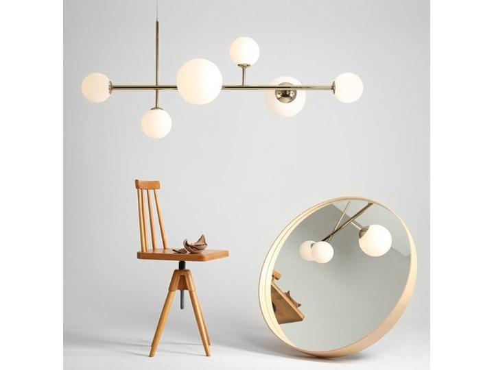 Żyrandol ze szklanymi kulami Floki Czarny Kolor Biały Szkło Metal Lampa z kloszem Kategoria Lampy wiszące