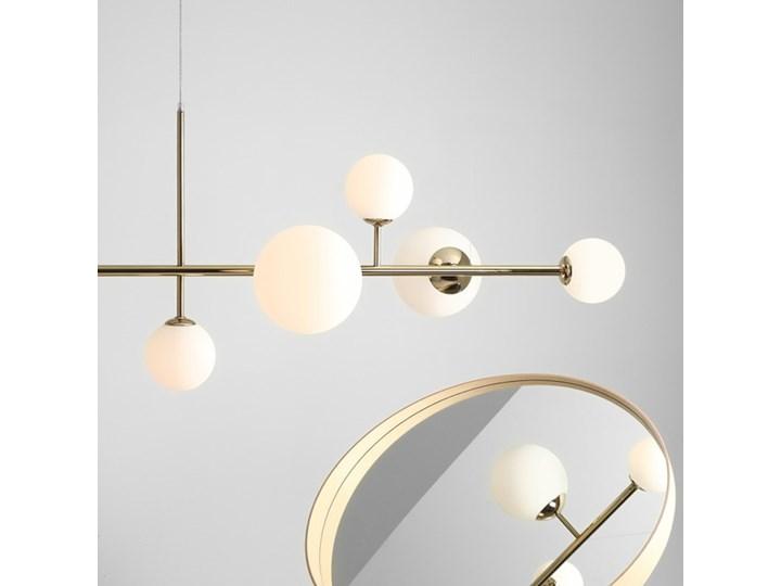 Żyrandol ze szklanymi kulami Floki Czarny Kolor Biały Lampa z kloszem Metal Szkło Styl Nowoczesny