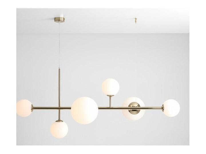 Żyrandol ze szklanymi kulami Floki Czarny Szkło Metal Lampa z kloszem Kolor Biały
