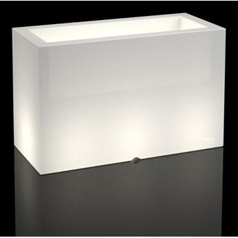 Podświetlana donica Lungo Maxi Do wnętrz / biały przewód z włącznikiem Zimna