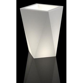 Geometryczna donica LED Vaso Do wnętrz / biały przewód z włącznikiem Zimna