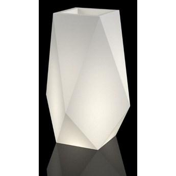 Wysoka podświetlana donica LED Volcano Do wnętrz / biały przewód z włącznikiem Ciepła