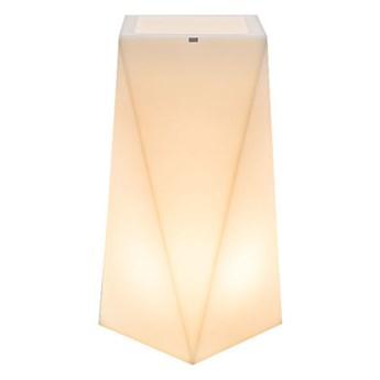 Wielka podświetlana donica LED Sage 90 cm na zewnątrz (czarnyny uziemiony przewód)