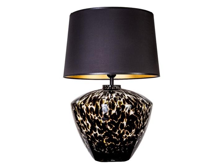 Designerska lampa stołowa Parma Czarny (złote wnętrze) Wysokość 48 cm Wysokość 20 cm Lampa z abażurem Kategoria Lampy stołowe