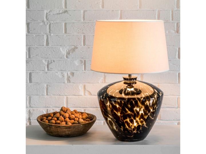 Designerska lampa stołowa Parma Czarny (złote wnętrze) Wysokość 20 cm Lampa z abażurem Kategoria Lampy stołowe Wysokość 48 cm Kolor Beżowy