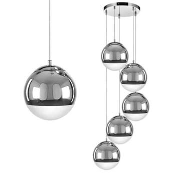 Kaskada LAMPA wisząca GINO 5801528 BriTop szklana OPRAWA zwis kule balls chrom