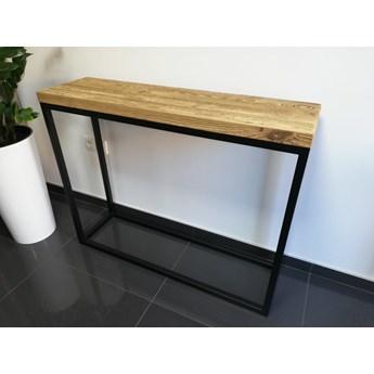 Industrialna loftowa konsola MILO1 Stare drewno szczotkowane