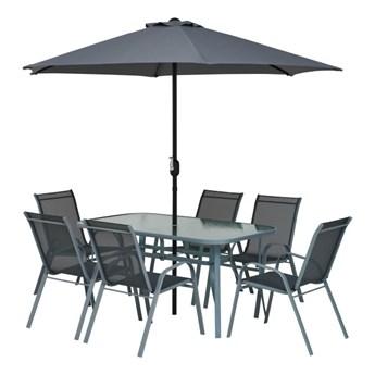 Gotowy zestaw mebli tarasowych Jumi Fiesta z parasolem