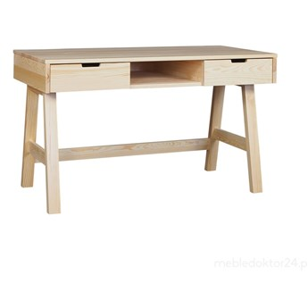 Biurko Malmo drewniane z szufladami