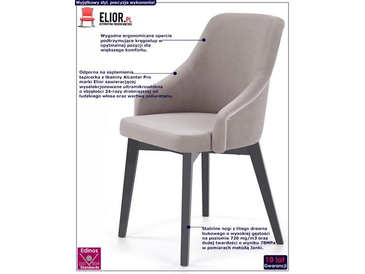 Krzesło drewniane Altex 2X - antracyt + dąb grafitowy Wysokość 86 cm Szerokość 57 cm Pomieszczenie Kuchnia Drewno Kolor Szary