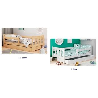 Dziecięce łóżko z szufladą Kacper - białe