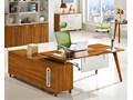 Nowoczesne biurko z pomocnikiem EVOLUTIO A609 140 cm Kolor Brązowy
