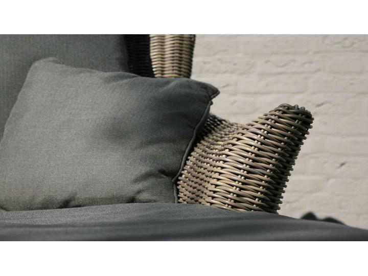 VALENTINE  - Ekskluzywny zestaw mebli ogrodowych brązowobeżowy z szarymi poduchami   Dekkor Zawartość zestawu Sofa Technorattan Zestawy wypoczynkowe Stal Aluminium Kolor Brązowy