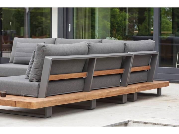Meble ogrodowe aluminiowe - narożnik nowoczesny na taras FITZ   Dekkor Kategoria Zestawy mebli ogrodowych Zestawy wypoczynkowe Aluminium Kolor Szary