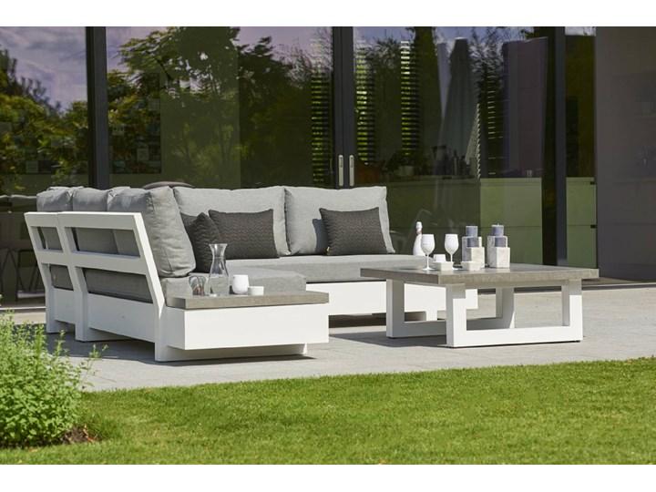 Komplet narożny na taras z aluminium teakowy EDGE | Dekkor Zestawy wypoczynkowe Kategoria Zestawy mebli ogrodowych