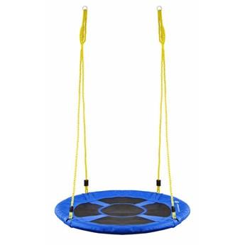 Huśtawka ogrodowa dla dzieci bocianie gniazdo 110 cm niebieska