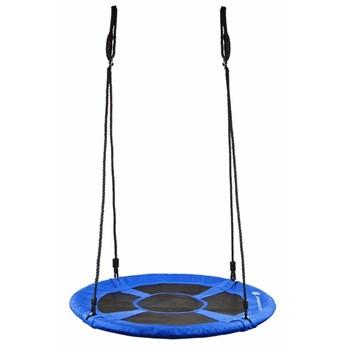 Huśtawka ogrodowa dla dzieci bocianie gniazdo 120 cm niebieska