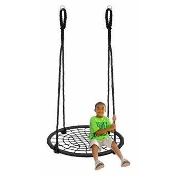 Huśtawka ogrodowa dla dzieci bocianie gniazdo 100 cm czarna