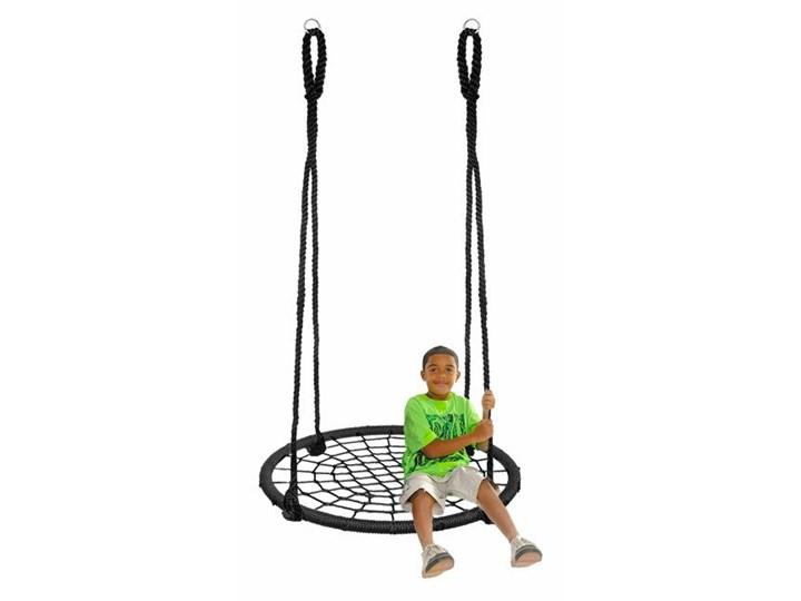 Huśtawka ogrodowa dla dzieci bocianie gniazdo 100 cm czarna Tworzywo sztuczne Kategoria Huśtawki dla dzieci
