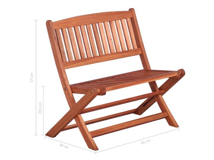 Ławka ogrodowa dla dzieci Blanka Drewno Kolor Brązowy
