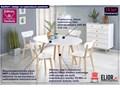 skandynawski stół rozkładany merol - biały Rozkładanie Wysokość 73 cm Rozkładanie Rozkładane