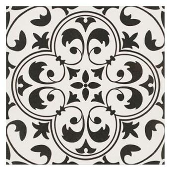 Gres szkliwiony PATCHWORK CONCEPT white-black naomi satyna 29,8x29,8