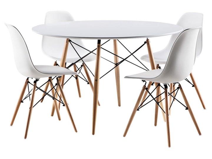ZESTAW PARIS STÓŁ OKRĄGŁY 100 CM + 4 KRZESŁA BUK DSW DSR Pomieszczenie Jadalnia Kategoria Stoły z krzesłami