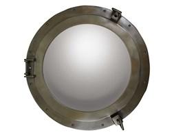 Duże lustro z brązową obwódką, średnica 51cm
