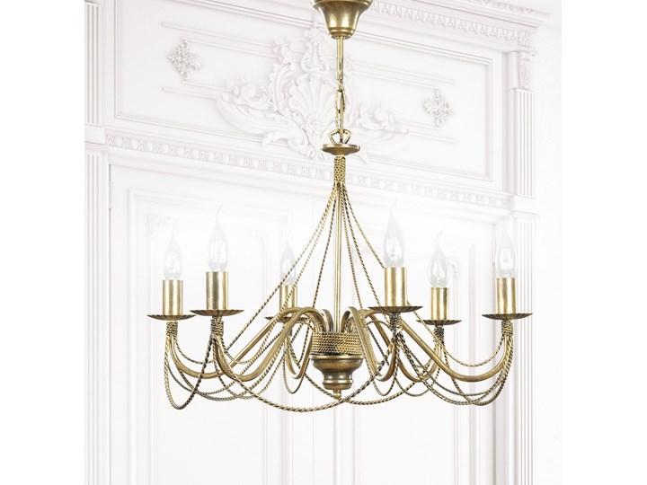 TORI 6 GOLD 170/6 klasyczny żyrandol świecznikowy Lampa z abażurem Lampa LED Metal Ilość źródeł światła 6 źródeł
