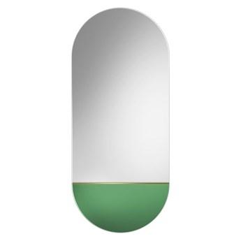 Lustro Novi zielone – owalne z kolorową wstawką