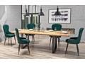 Nowoczesny stół rozkładany Berkel 2X 160 XL - dąb Szerokość 90 cm Drewno Długość 160 cm  Szerokość 160 cm Długość 90 cm  Wysokość 76 cm Styl Industrialny