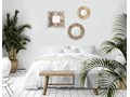 okrągłe lustro silmi - naturalne Kolor Beżowy Styl Skandynawski