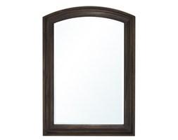 ALICE lustro w drewnianej półokrągłej ramie brązowe, 106x70 cm