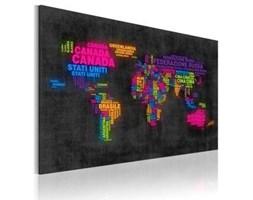 Obraz - Mapa świata - nazwy państw w języku włoskim