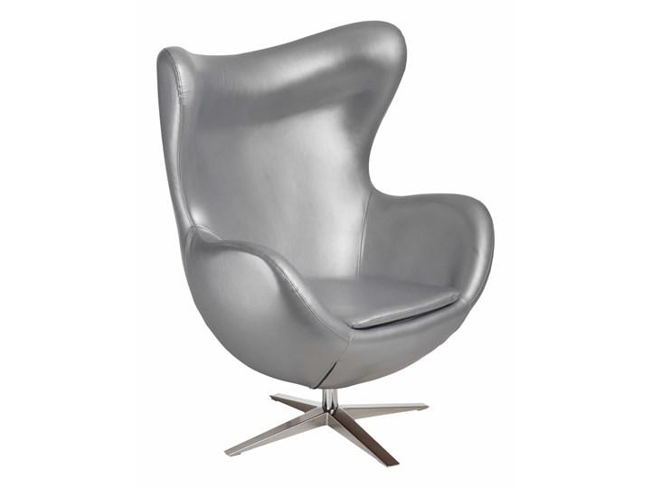 Fotel Jajo Soft skóra ekologiczna 528 srebrny