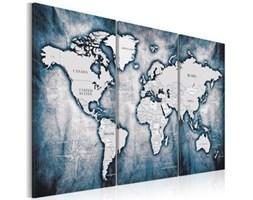 Obraz - Mapa świata: Atramentowy tryptyk