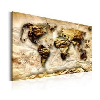 Obraz - Mapa: Inspiracja Leonardem da Vinci