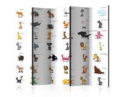 Parawan 5-częściowy - Learning by playing (animals) II [Room Dividers]