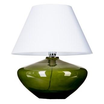 Zielona lampa stołowa Madrid ze szkła Biały