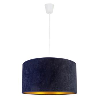 Klasyczna lampa wisząca Roller z welurowym abażurem Ecru