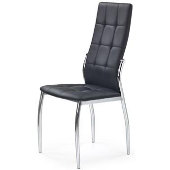 Stylowe nowoczesne krzesło czarne pikowane Azrel