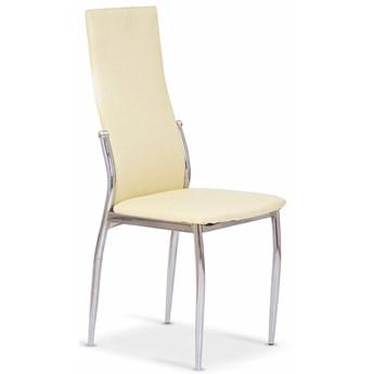 Tapicerowane krzesło Galder - waniliowe
