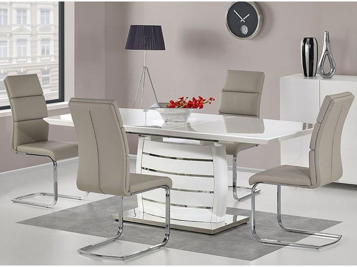 Stół rozkładany Doren - biały połysk Długość 200 cm  Wysokość 76 cm Kategoria Stoły kuchenne Szerokość 90 cm Styl Nowoczesny