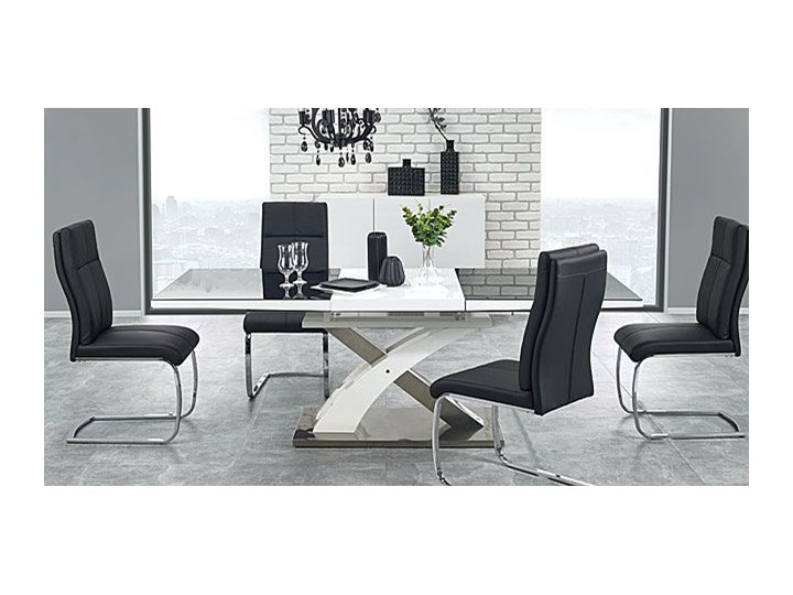 Stół rozkładany Zander - czarny Wysokość 75 cm Długość 220 cm Szerokość 90 cm Rozkładanie Kształt blatu Prostokątny